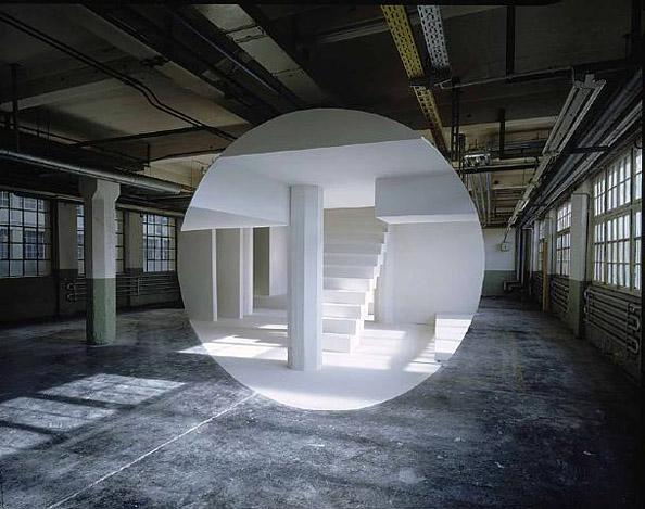 architektūrinė instaliacija georges-rousse