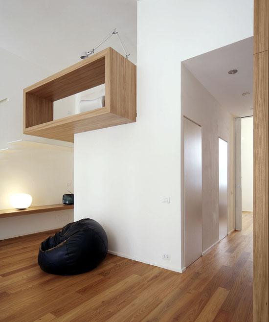medinė konstrukcija, koridorius
