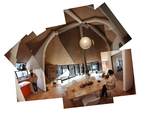 penkiakampio namo interjero koliažas