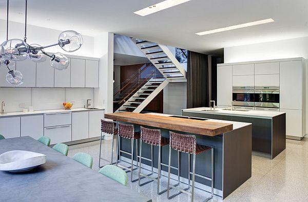 erdvi virtuvė, dviguba sala