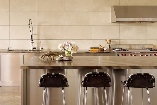 virtuvė be spintelių vienoje linijoje