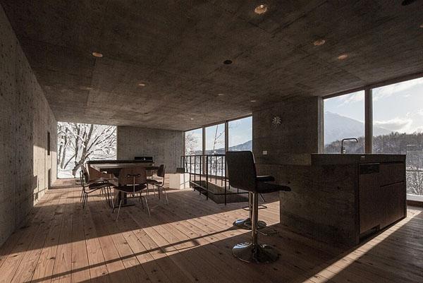 house-hirafu-florian-busch-architects erdvė antrame aukšte