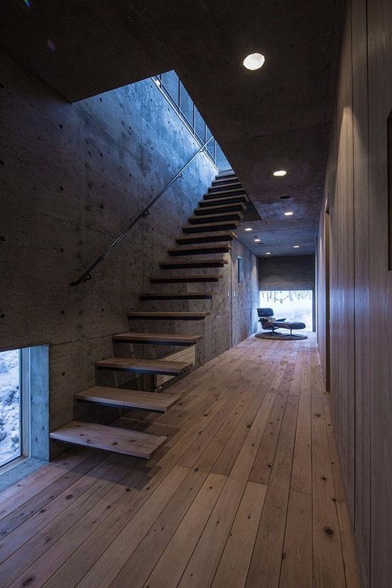 house-hirafu-florian-busch-architects, laiptai