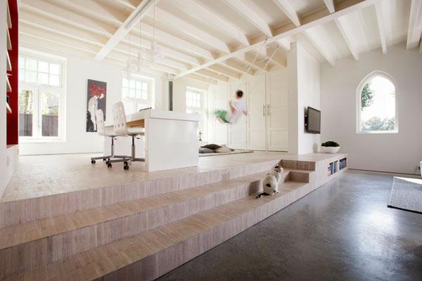 bažnyčios rekonstrukcija, darbo kambarys, sijos lubose
