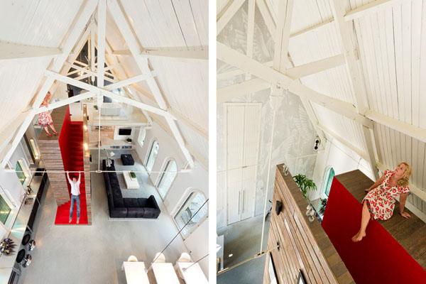bažnyčios rekonstrukcija, bendra erdvė