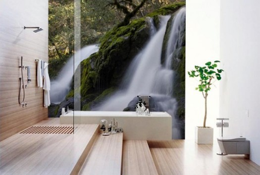 bathroom-wall-mural-deep-forest-waterfall-smart-wall-improvement-with-new-concept-wall-murals-from-eazywallz-525x354