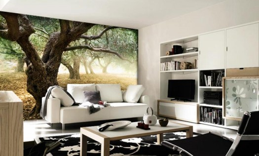 living-room-wall-mural-summer-forest-smart-wall-improvement-with-new-concept-wall-murals-from-eazywallz-525x316