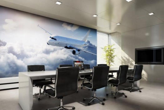 meeting-room-wall-mural-air-plane-smart-wall-improvement-with-new-concept-wall-murals-from-eazywallz-525x351