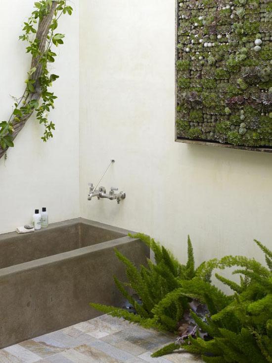 betoninė lauko vonia