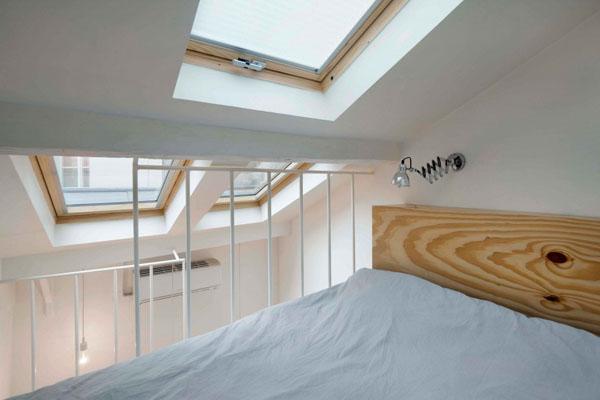 25 m2 miegamasis palėpėje
