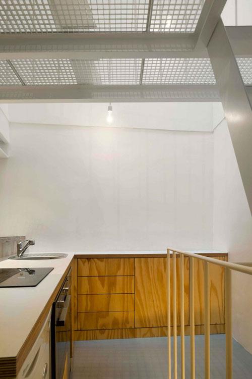 25 m2 butas, virtuvės zona