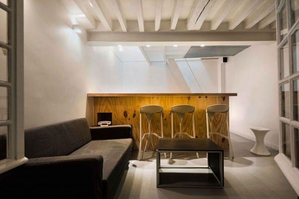 25 m2 butas, svetainės zona