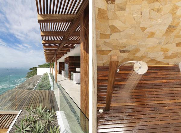 casa-almare-enpundit lauko terasa, medinės dušo grindys