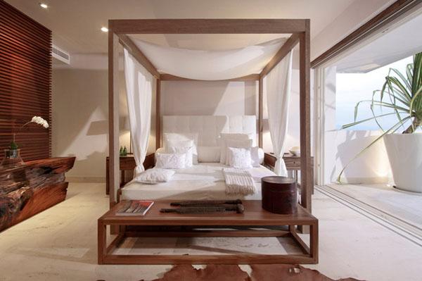 lova su baldakimu, miegamasis