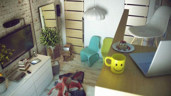 industrinis loftas, namų biuras, plastikinės kėdės