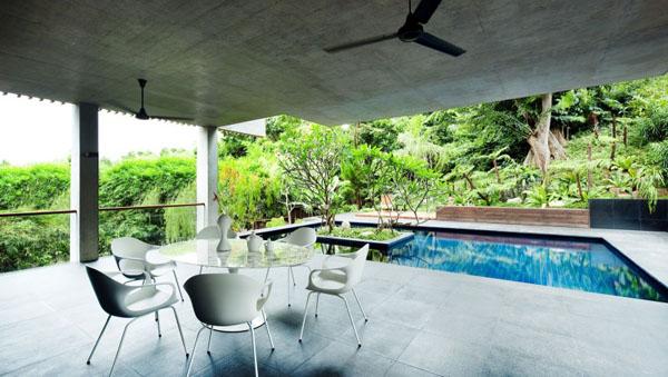 Atvira terasa, sala baseine, eksterjeras