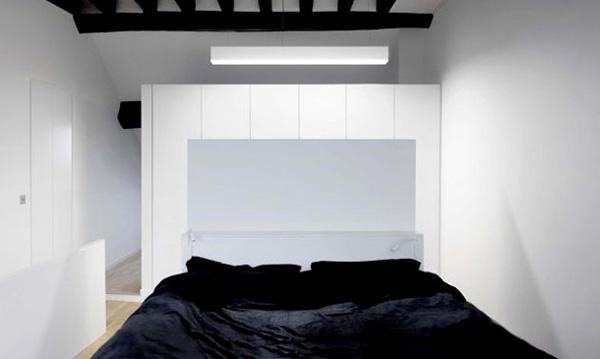 miegamasis, juodos sijos lubose