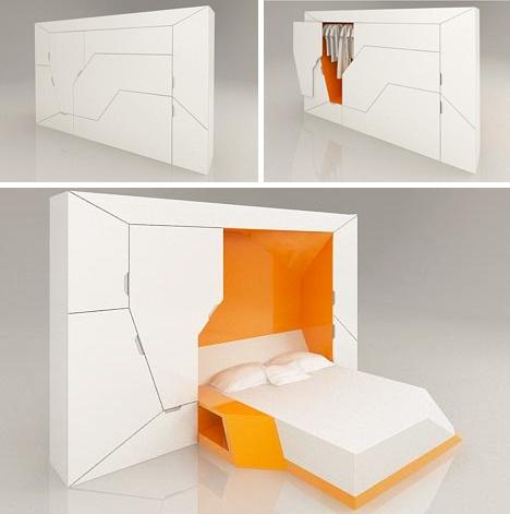 moduliniai baldai, miegamasis