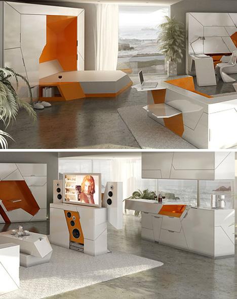 moduliniai baldai, virtuvė, svetainė, miegamasis, poilsio, darbo