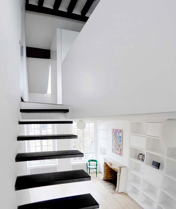 butas Paryžiuje, laiptų aikštelė antrame aukšte