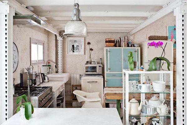 balta fotografijos studija namai, virtuvė