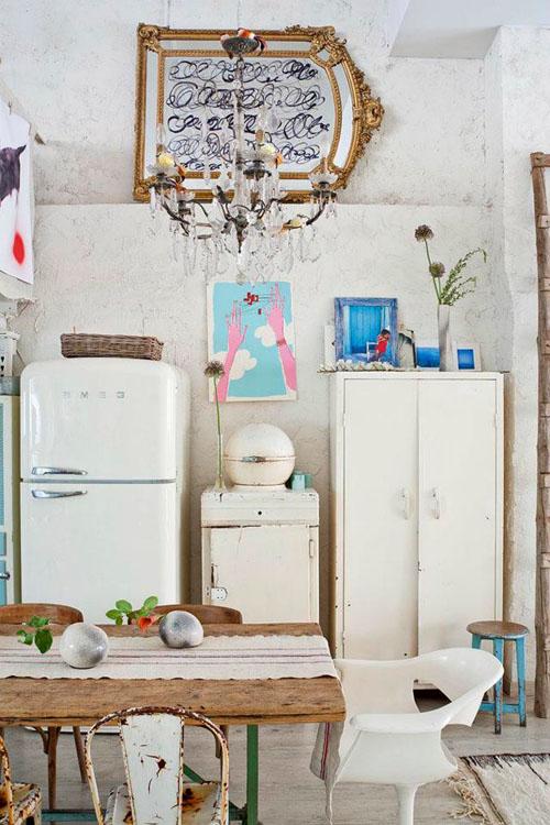 balta fotografijos studija namai, virtuvė, paveikslai