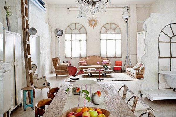 balta fotografijos studija namai, svetainė, arkiniai langai