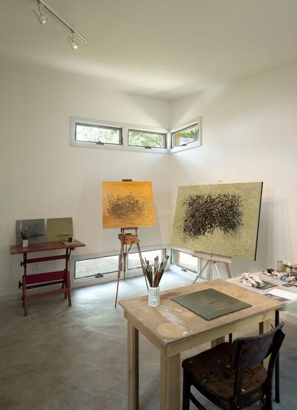Ridgehouse, dailininko studija, paveikslai