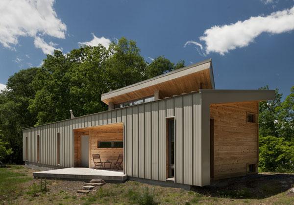 Ridgehouse, namo fasadas, medis, metalas