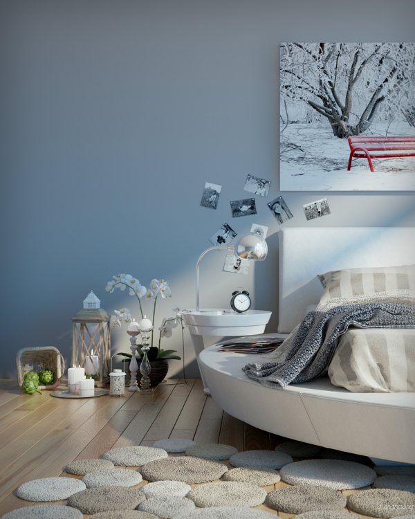 lova paveikslas geles