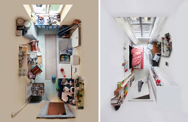 kambarių interjerai iš viršaus