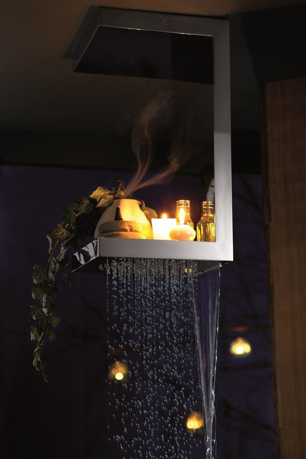 stačiakampė dušo galvutė lentynėlė zvakes