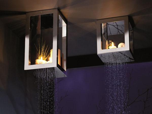 stačiakampės dušo galvutės lentynėlės, zvakes