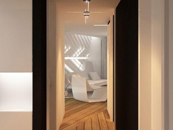 futuristinis butas koridorius