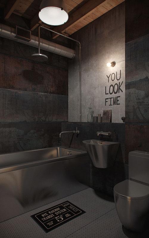 industrinis loftas vonia