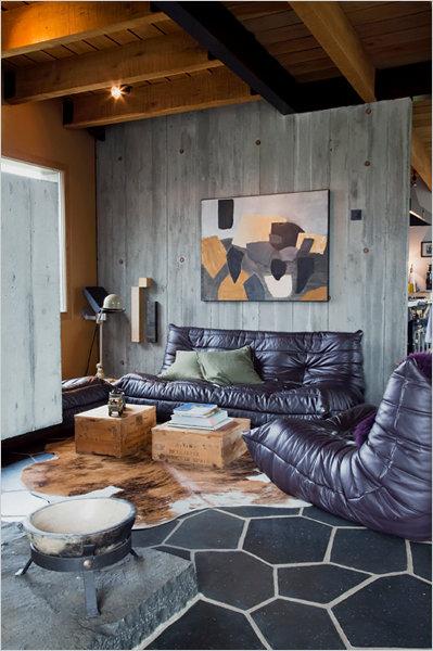 medinis namas svetaine odine sofa islandijoje