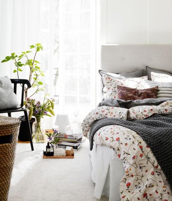 vaza, gele, lapeliai, miegamasis