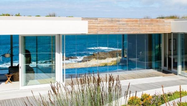 Crystal-clear-vasaros namai, fasadas