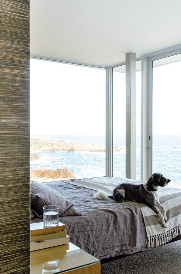 Crystal-clear-vasaros namai, miegamasis, lova