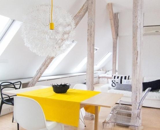 palepe geltona staltiese stalas sviestuvas snaige